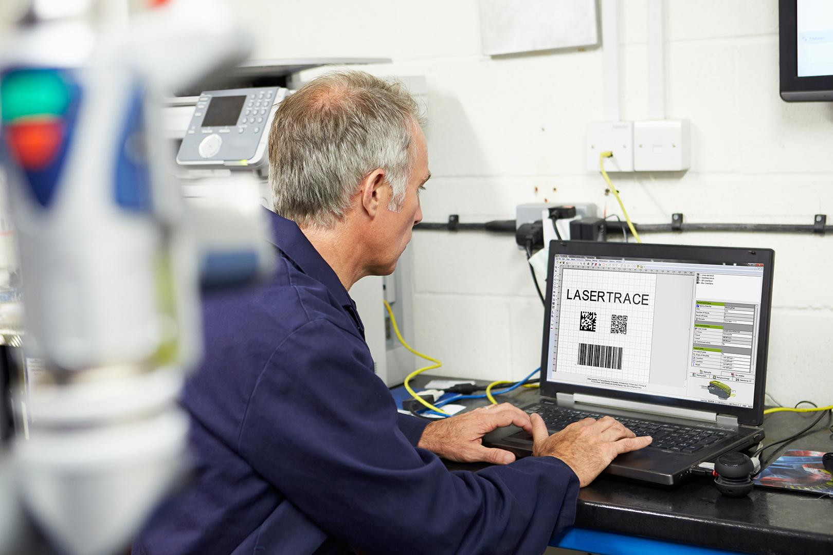Lasertrace : piloting software for Gravotech traceability machines