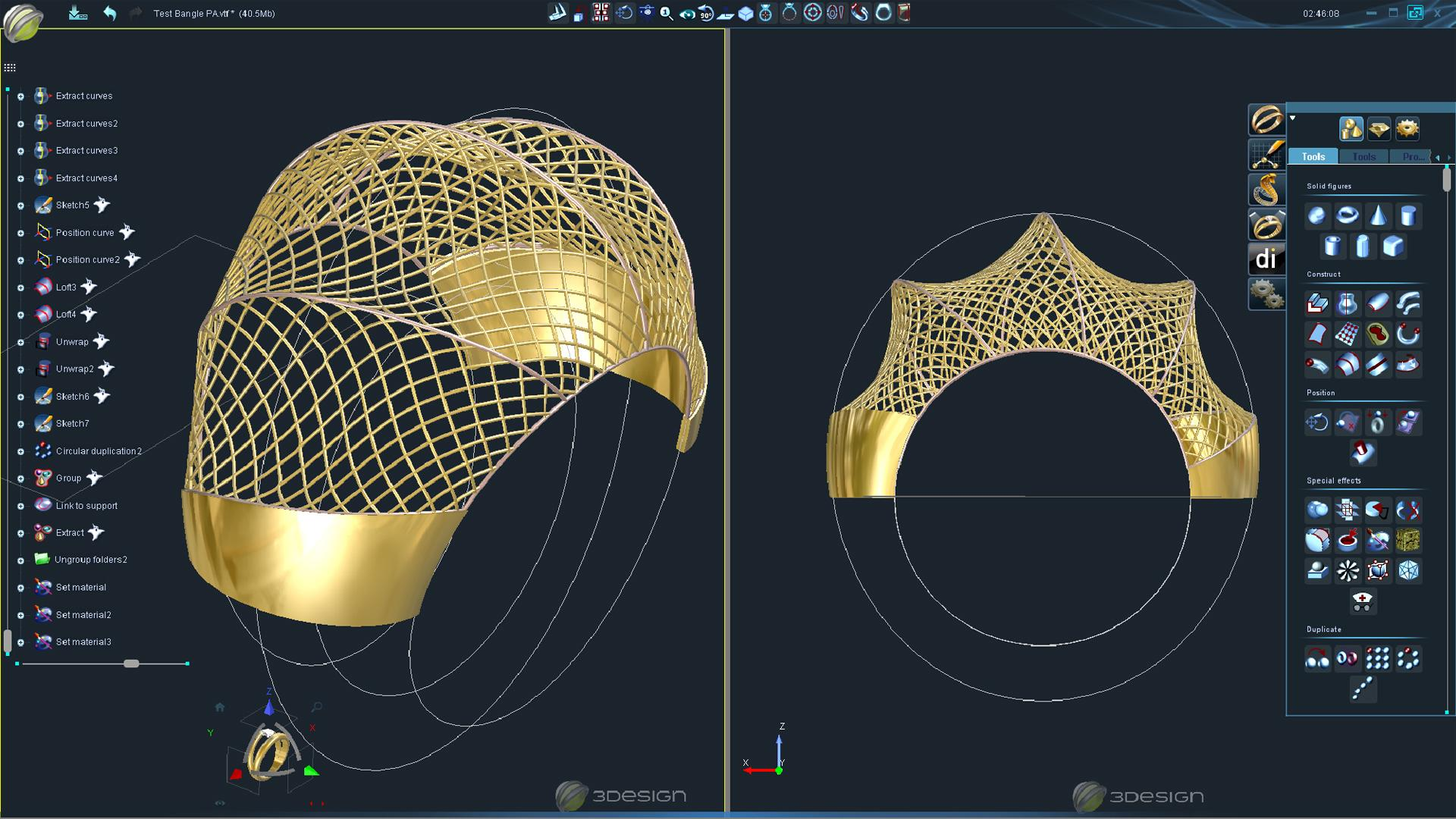 3Design interface : bangle design